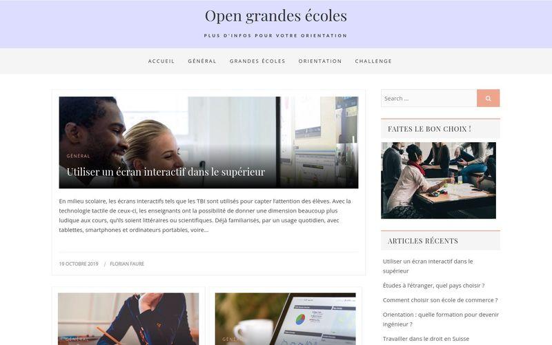 Open grandes écoles - Plus d'infos pour votre orientation